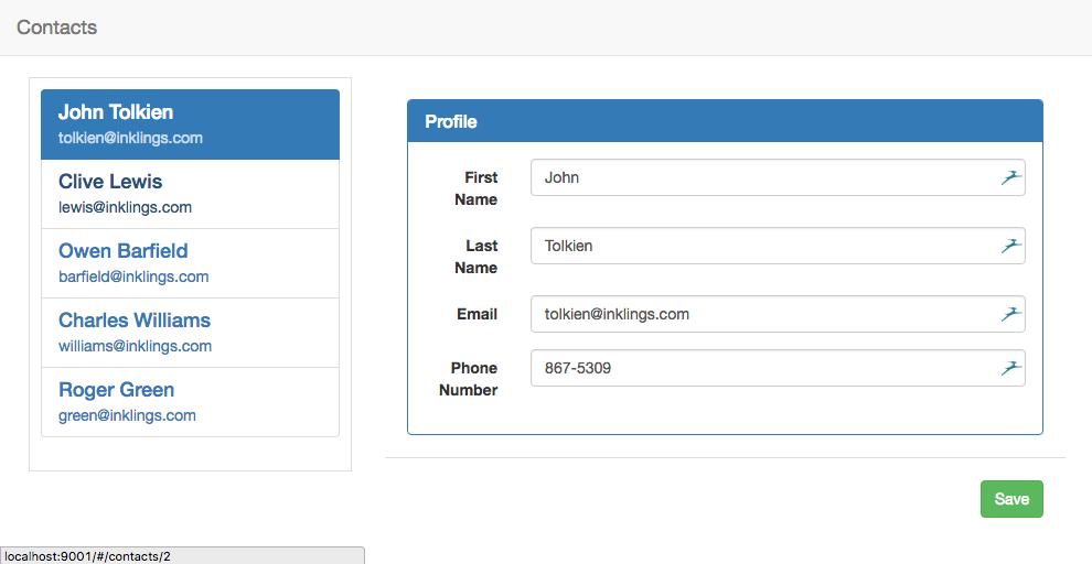 Contact Manager Tutorial | Aurelia